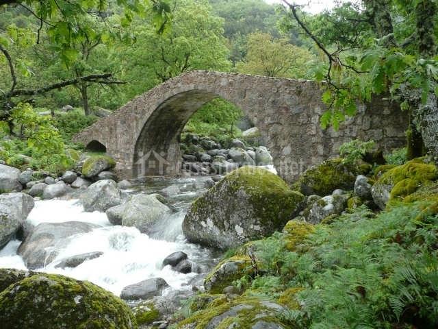 Puente romano sobre el río