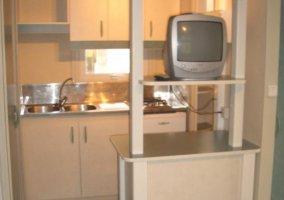 Cocina con televisión