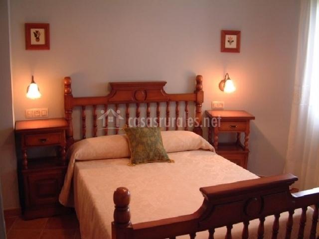 Habitación de matrimonio en madera