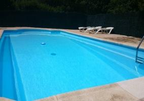 La piscina amplia