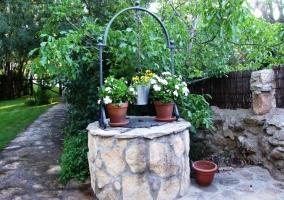 Pozo en los jardines