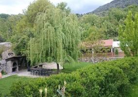 Vistas de las zonas verdes del exterior