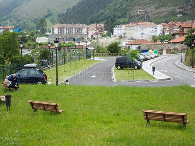 Vistas de la zona del parking público