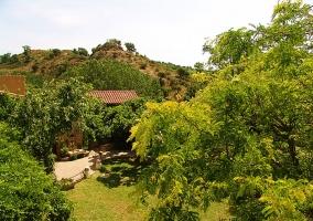Hamaca en el interior del jardín con impresionantes vistas