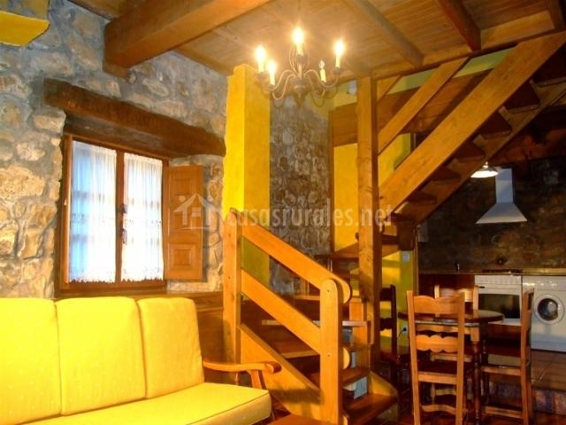 Sala de estar y comedor cocina