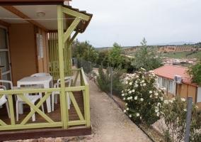 Terraza de los bungalows