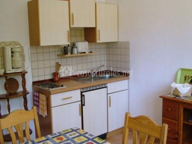 Cocina y comedor en el apartamento
