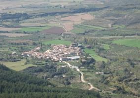 Vistas del pueblo de Aniés