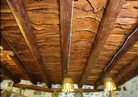 El techo. Las vigas al detalle