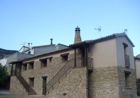 Vistas de la fachada de la casa