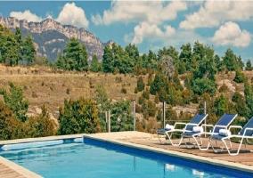 Vista del entorno desde la piscina