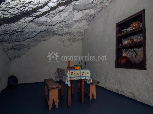 Comedor en cueva