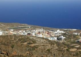 El pueblo de Fasia visto desde el alojamiento