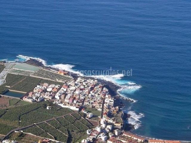 Zona de Los Silos y el  mar