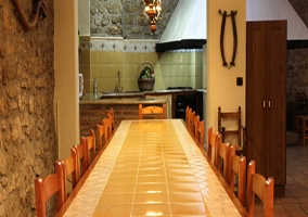 Gran salón con cocina