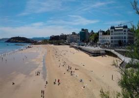 Panorámica de la playa del Sardinero en Santander