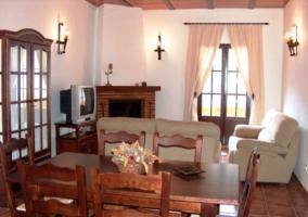 Fachada de la casa rural malagueña