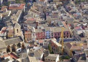Panorámica de las calles y edificios Mula