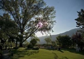 Vistas del jardín y paisaje al horizonte