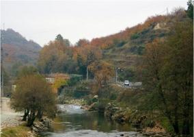 Zona de las gargantas en el pueblo de Navaconcejo