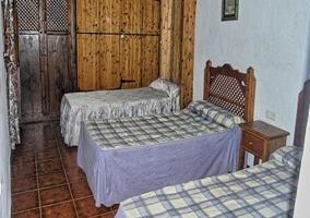 Dormitorio doble con cama supletoria