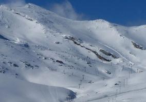 Zona de esqui en la Estacio de Alto Campoo