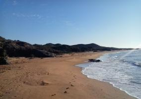 Arena y mar en Calblanque