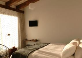 Dormitorio doble con jardín