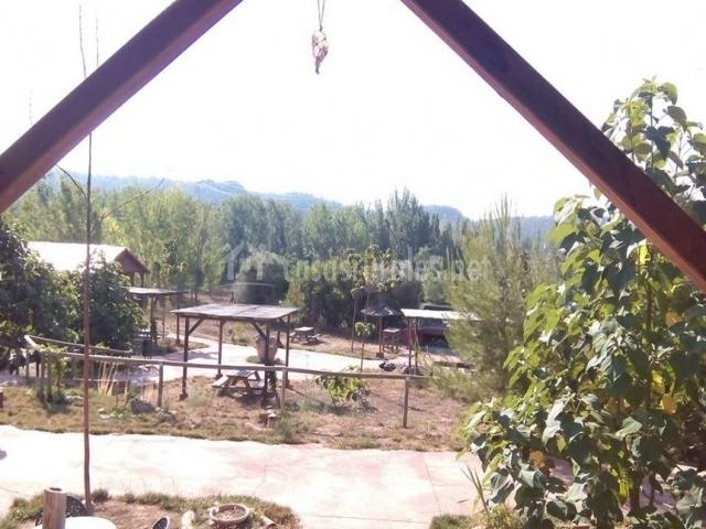 Vistas de los exteriores desde el porche