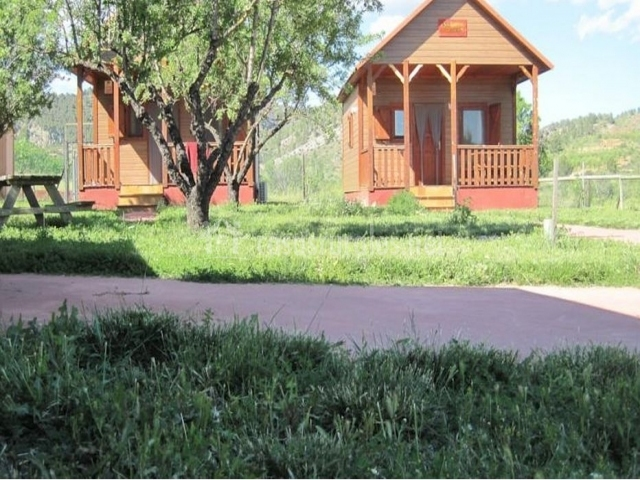 Vistas de nuestras cabañas desde las zonas verdes