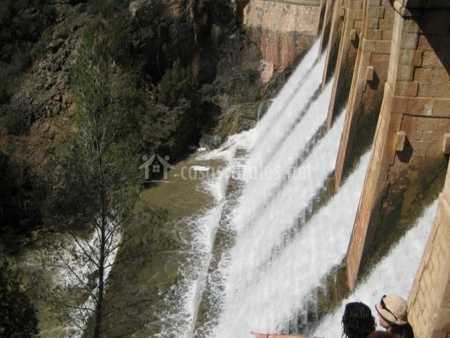 Zona de la presa vista desde arriba