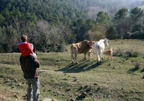 Paseos por la finca con animales