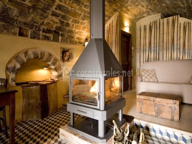 Casa del aceite mur de aluj n en alujan huesca - La casa de la chimenea ...