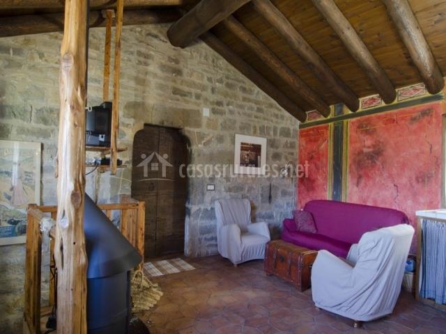 Sala de estar de piedra Casa de Vino
