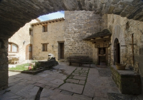 Patio de la casa rural
