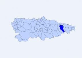 Situación de Cangas de Onís en el mapa