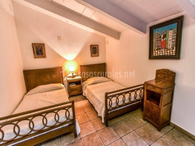 Dormitorio Twin Luxe abuhardillado