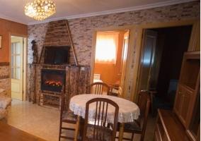 Salón y comedor comparten espacio en la casa