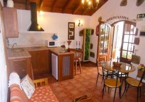 Cocina y salón-comedor en un mismo espacio