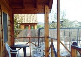 Piscina exterior de la cabaña