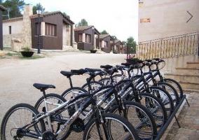 Aparcamiento de bicicletas de la casa rural