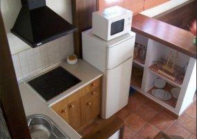 Cocina equipada de la casa rural