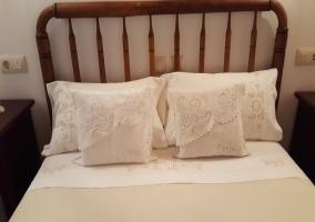 Detalle de la ropa de cama