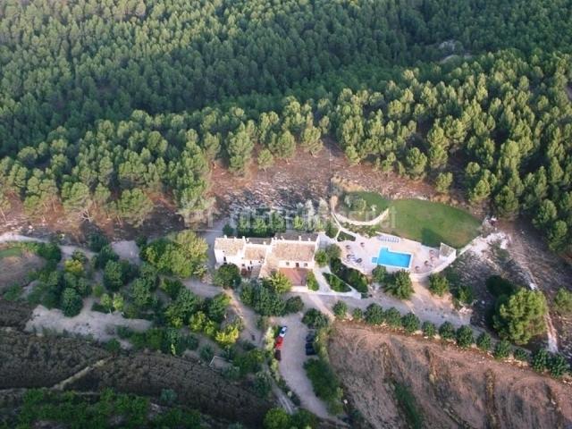 Vista área del complejo La Celada