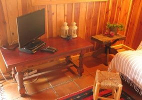 Sala de estar con estufa