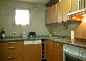 Cocina con pequeños electrodomésticos