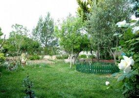 Jardín junto a la casa