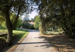Camino hacia los alojamientos