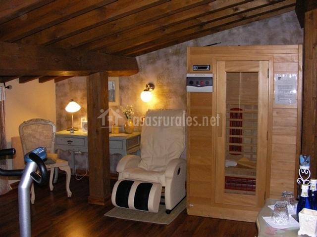 Sala de relax con sauna