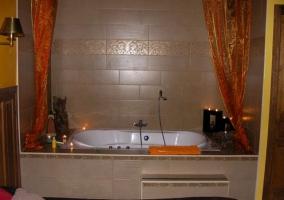 Vista de la bañera